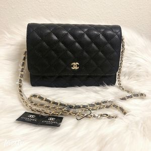 New Classic Real Leather Gold chain Cross body